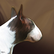Bull Terrier Framed Prints - Bull Terrier by bullylove Framed Print by Bullylove DE