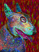 Bull Terrier Art - Bull Terrier Dog Pop Art - 20130121v2 by Wingsdomain Art and Photography