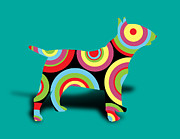 Dogs Digital Art - Bull Terrier by Mark Ashkenazi