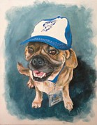 Footie Framed Prints - Bulldog Framed Print by Almeta LENNON
