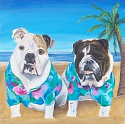 Tracie Davis - Bulldogs on a Beach