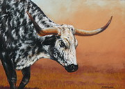 Horns Pastels - Bulldust by Margaret Stockdale