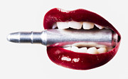 Weapon Posters - Bullet Lips Red edition Poster by Erik Brede
