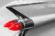 Iconic Car Prints - Bullet Tail Lights Print by Jim Hughes