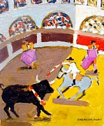Toto Paintings - Bullfight In Portugal by Chevassus-agnes Jean-pierre
