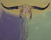 Desert Wildlife Paintings - Bullfight by Michael Creese