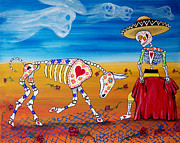 Diego Rivera Framed Prints - Bullfighter Day of the Dead Framed Print by Julie Ellison