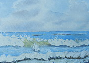 Bulli Paintings - Bulli Beach by Pamela  Meredith