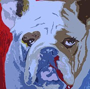 Bull Paintings - Bullies Need Love Too by Holly Picano
