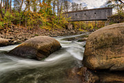 Housatonic River Posters - Bulls Bridge Autumn Poster by Bill  Wakeley