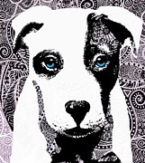 Puppies Digital Art Posters - Bully Poster by Cindy Edwards
