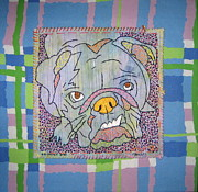 Dog Tapestries - Textiles Acrylic Prints - Bully Acrylic Print by Susan Sorrell