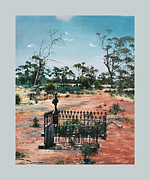 Headstones Painting Prints - Bulong-w.a- Print by Caroline Beaumont
