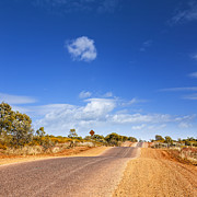 Highway Posters - Bumpy Desert Road Outback Queensland Australia Poster by Colin and Linda McKie
