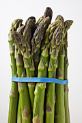 Fresh Food Photo Framed Prints - Bunch of asparagus  Framed Print by Garry Gay