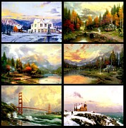 Kinkade Prints - Bundle Bridge Print by Thomas Kinkade