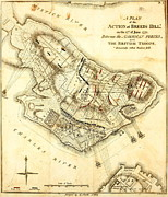 Prescott Drawings Prints - Bunker Hill - Map Print by Charles Ross