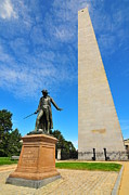 Historical Places Framed Prints - Bunker Hill Monument Framed Print by Catherine Reusch  Daley