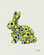 Pop Posters Mixed Media - Bunny - Animal Art by Anastasiya Malakhova