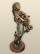 Little Girls Sculptures - Bunny Hug by Blair Muhlestein