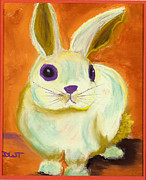 Fanciful Pastels Metal Prints - Bunny Magic Metal Print by Diana Tripp