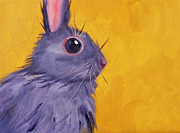 Side View Painting Framed Prints - Bunny Framed Print by Nancy Merkle