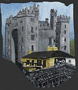 Barbara Mcdevitt Framed Prints - Bunratty Castle and Durty Nellys Framed Print by Barbara McDevitt