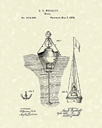Warning Drawings - Buoy 1878 Patent Art by Prior Art Design