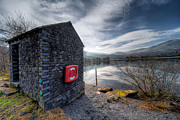 Wales Digital Art - Buoy at Lake by Adrian Evans