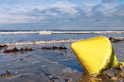 Marker Metal Prints - Buoy at Low Tide Metal Print by Olivier Le Queinec