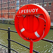 Lifebelt Posters - Buoy foam lifesaving ring Poster by Luis Santos