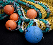 Buoys Prints - Buoys and Nets Print by Carol Leigh