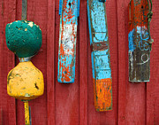 Rockport Prints - Buoys at Rockport Motif Number One Lobster Shack Maritime Print by Jon Holiday