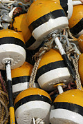 Buoys Print by Cindi Ressler