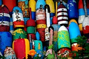 Summer Fun Drawings - Buoys  by Cole Black