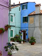 John Tidball Metal Prints - Burano Courtyard Metal Print by John Tidball