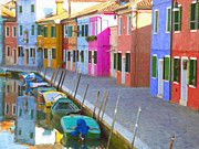 Whittle Prints - Burano District Venice Italy Print by Dean Wittle