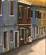 Window Signs Mixed Media - Burano Italy by Diane Strain