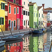 Cheri Randolph Framed Prints - Burano Reflections Framed Print by Cheri Randolph