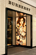 Shopfront Framed Prints - Burberry Emma Watson 01 Framed Print by Rick Piper Photography