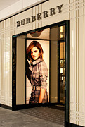 Australian Poster Framed Prints - Burberry Emma Watson 02 Framed Print by Rick Piper Photography