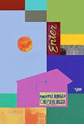 Burger Digital Art Prints - Burger joint  #4 Print by Elena Nosyreva