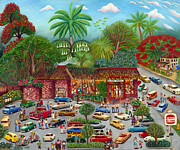 Burger King Paintings - Burger King in Coconut Grove by Colette Raker