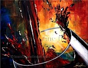 Syrah Paintings - Burgundy Bliss Wine Art Painting by Leanne Laine