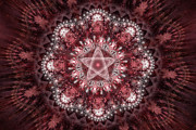 Fractal Designs Prints - Burgundy Print by Sandy Keeton