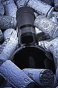 Wine Cork Posters - Buried Wine Bottle Poster by Tom Mc Nemar