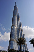 Mounted Prints Framed Prints - Burj Khalifa 1 Framed Print by Graham Taylor