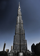 Mounted Prints Framed Prints - Burj Khalifa 3 Framed Print by Graham Taylor