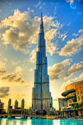 Wall Hanging Framed Prints - Burj Khalifa Framed Print by Syed Aqueel