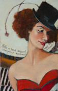 Circus. Paintings - Burlesque Belle 1 by Jennifer Croom